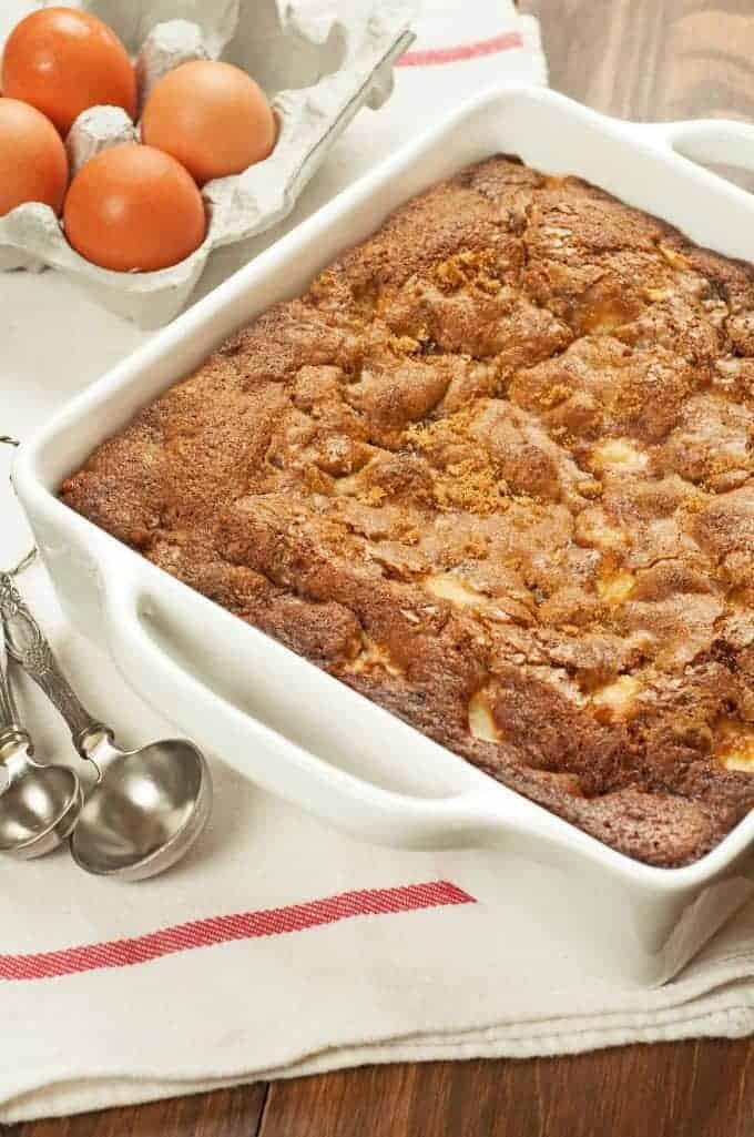 Rum Ed Apple Pudding Cake