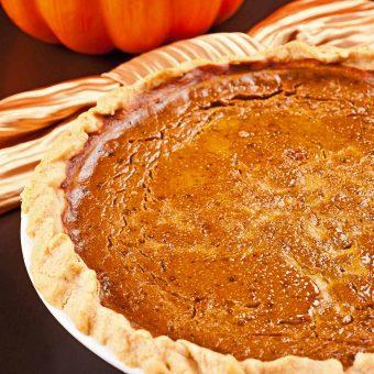 Rum-Spiked Pumpkin Pie