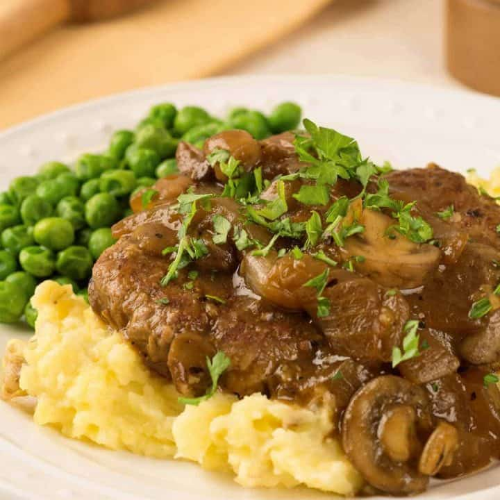 Salisbury Steak with Mushroom and Onion Gravy
