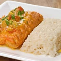 Salmon With Curried Coconut-Tomato Sauce