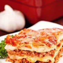 Sausage, Pancetta And Portobello Lasagna