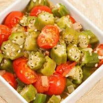 Sautéed Okra and Tomatoes