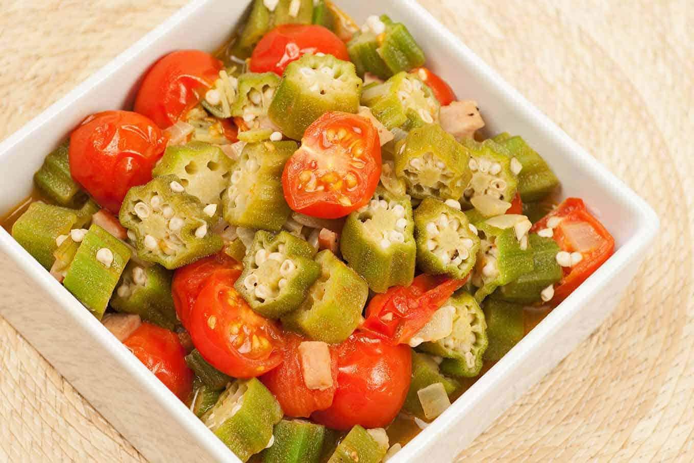 Sautéed Okra and Tomatoes