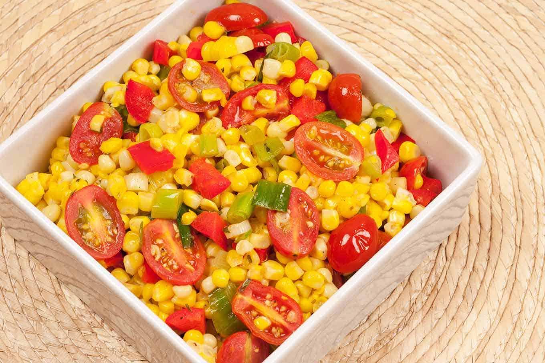 Sauteed Sweet Corn with Tomatoes and Tarragon