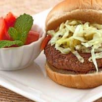 Scallion Burgers with Sesame Slaw