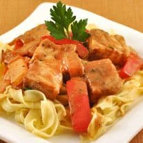Seared Pork in Sour Cream-Paprika Gravy