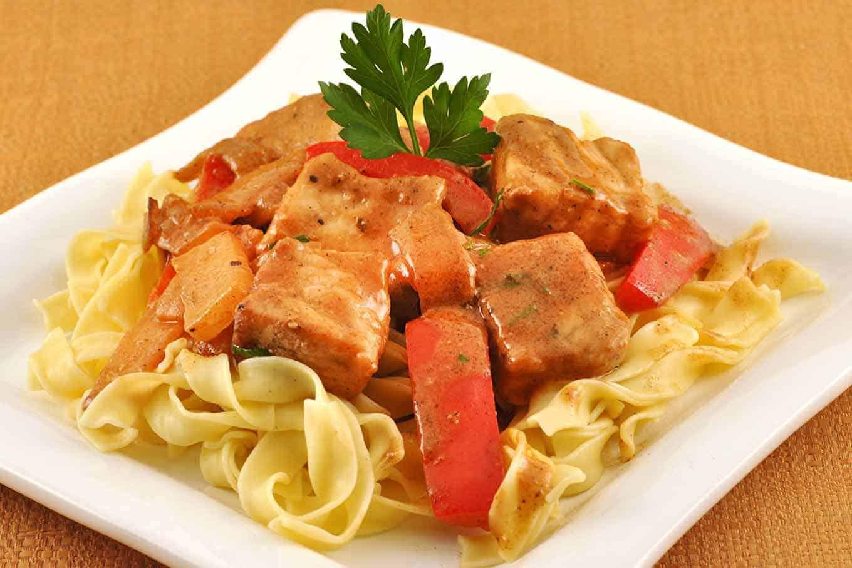 Seared Pork in Sour Cream-Paprika Gravy