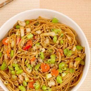 Sesame Noodles with Edamame