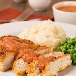 Shallow-Fried Chicken with Southern Tomato Gravy