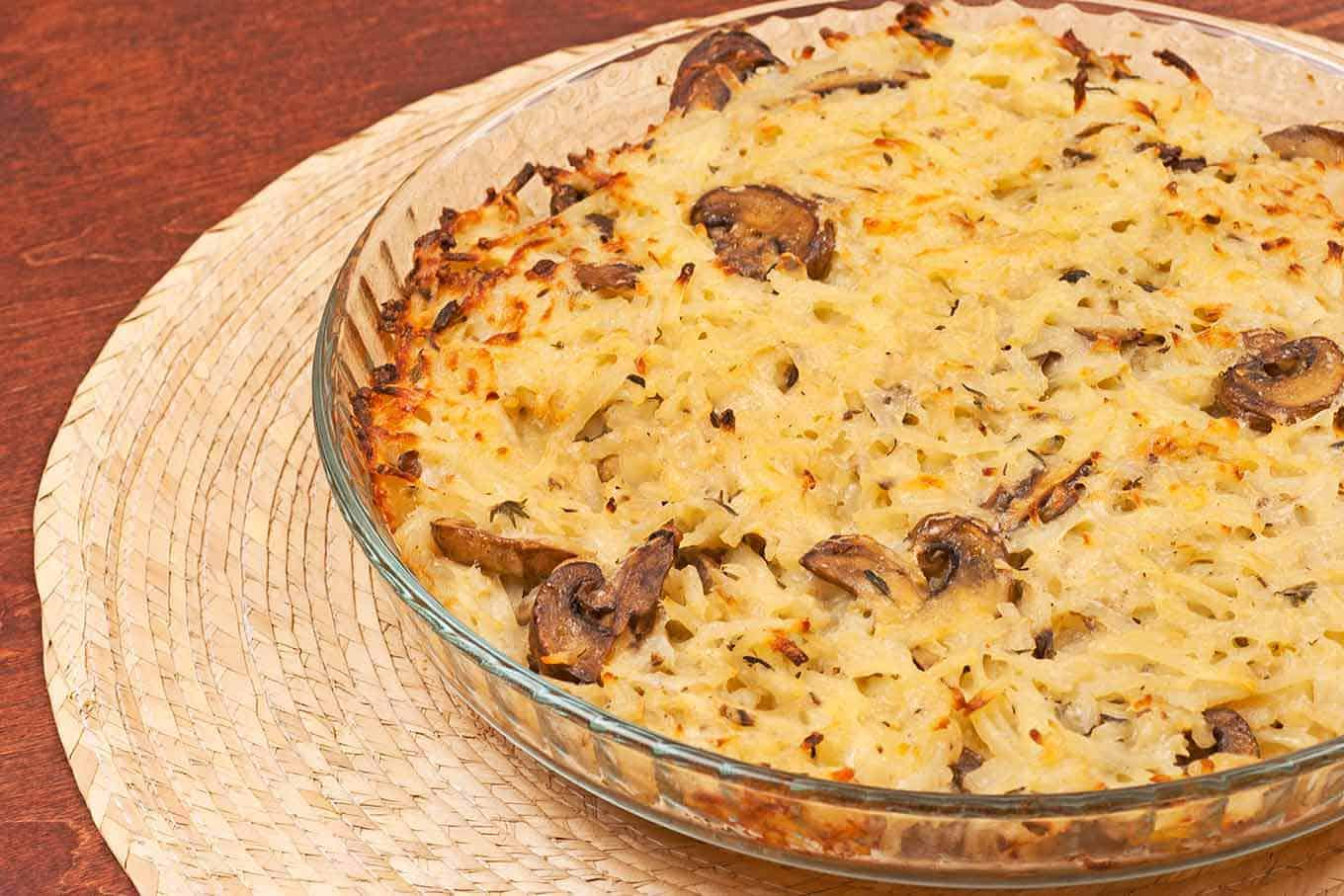 Shredded Potato And Mushroom Casserole Recipe