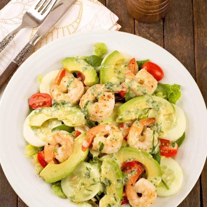Shrimp and Avocado Salad with Creamy Tarragon Dressing