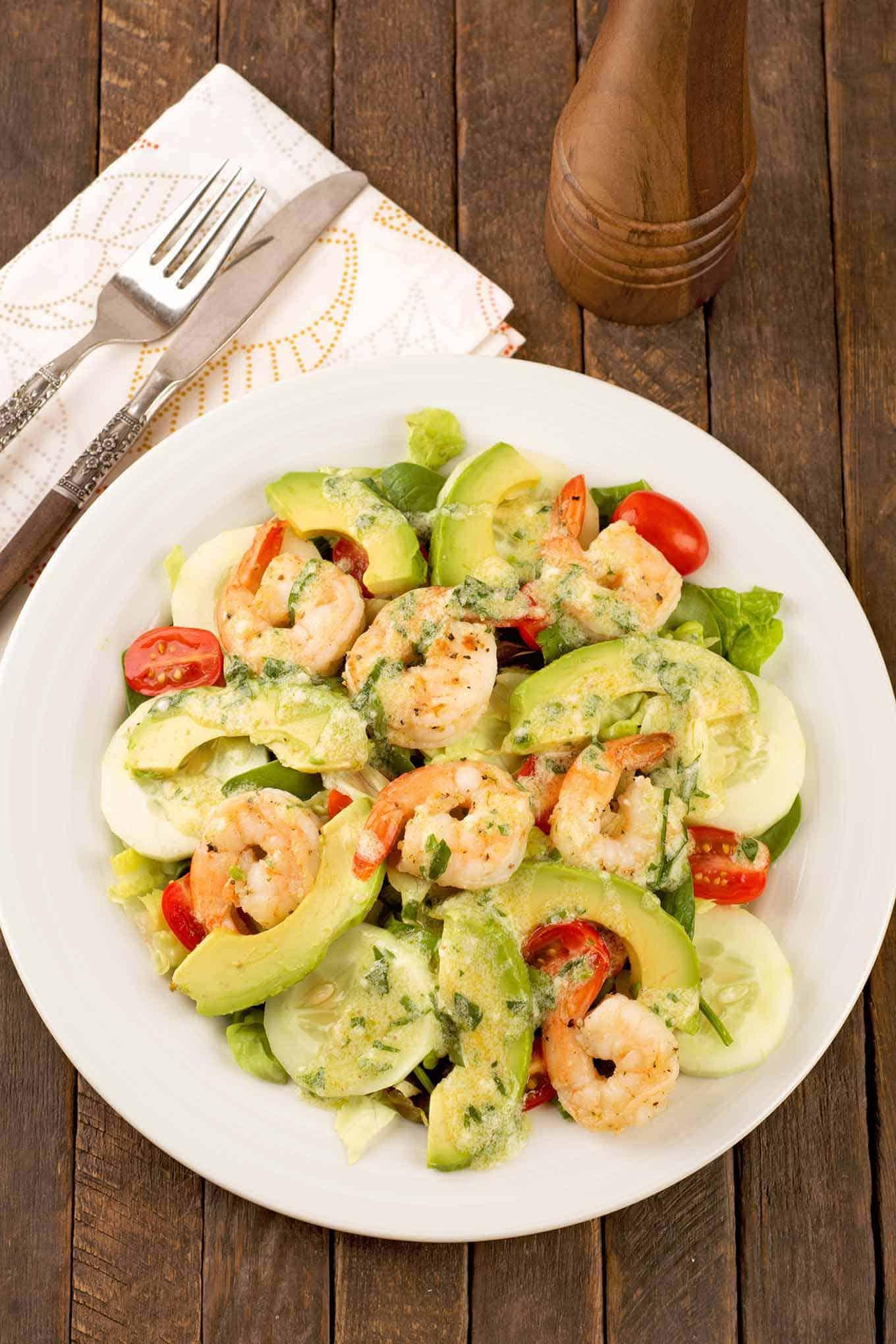 Shrimp and Avocado Salad with Fresh Tarragon Dressing