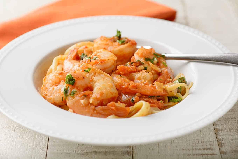 Spicy Shrimp with Pasta (Shrimp fra Diavolo)