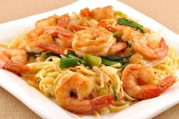 Sichuan Pepper Shrimp with Noodles