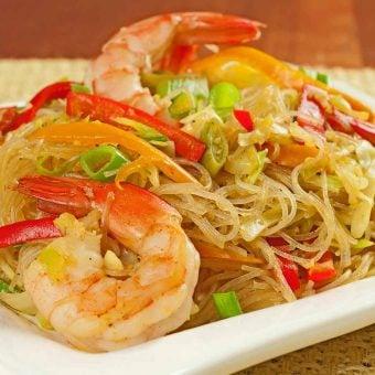 Singapore-Style Noodles with Shrimp