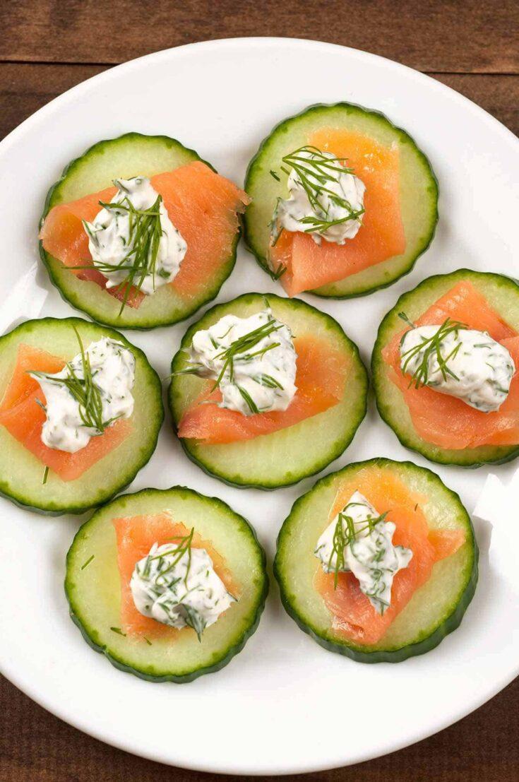 Smoked Salmon And Cucumber Bites Recipe Mygourmetconnection