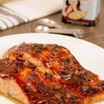 Smoky Bacon Glazed Salmon