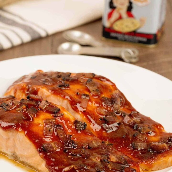 Smoky Bacon-Glazed Salmon