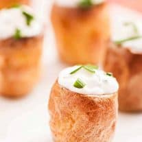 Sour Cream and Chive Stuffed Potato Bites