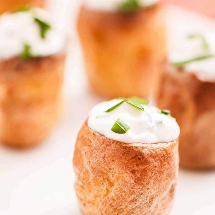 Sour Cream and Chive Stuffed Potato Bites