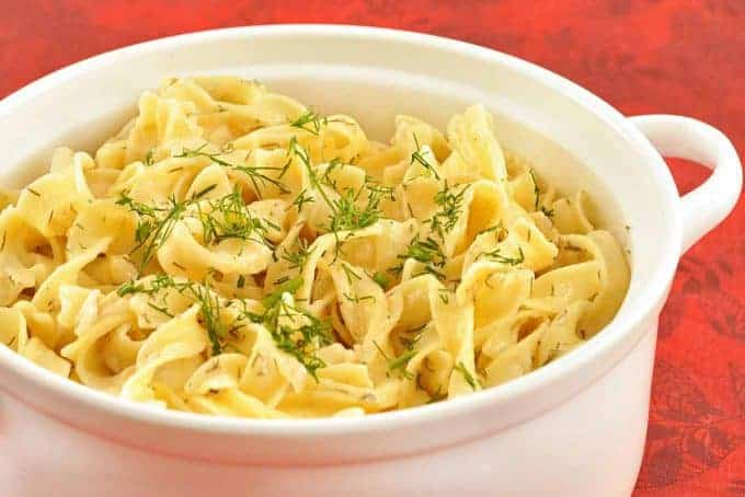 Sour Cream-Dill Noodles