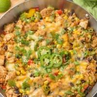 Southwest Chicken and Cauliflower Rice