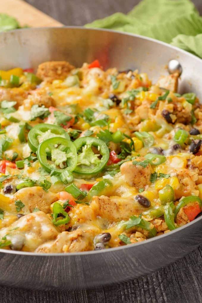One-Pan Southwest Chicken and Cauliflower Rice Recipe