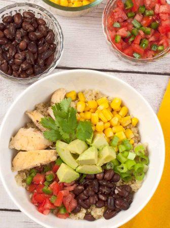 Southwest Chicken Quinoa Bowl