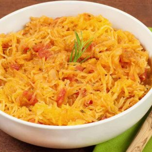 Spaghetti Squash with Tomatoes and Rosemary