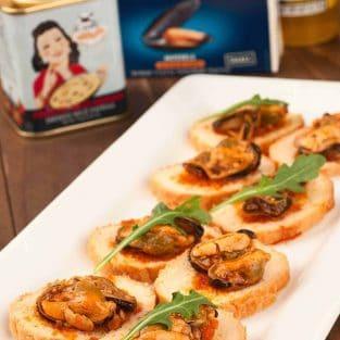 Spanish Seafood Crostini