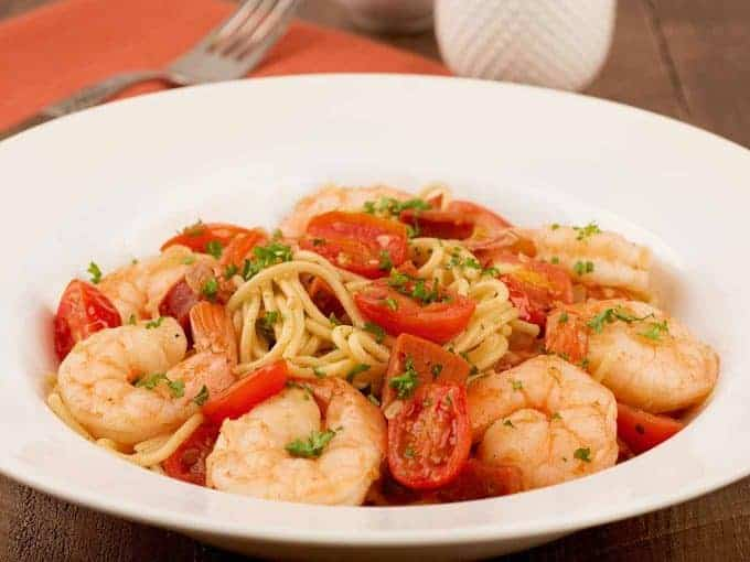Spaghetti with Shrimp and Chorizo