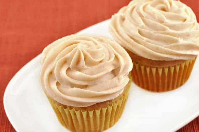 Spiced Banana-Rum Cupcakes
