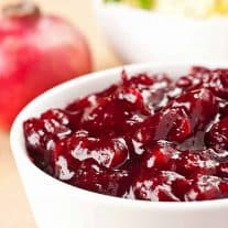 Spiced Cranberry-Pomegranate Sauce