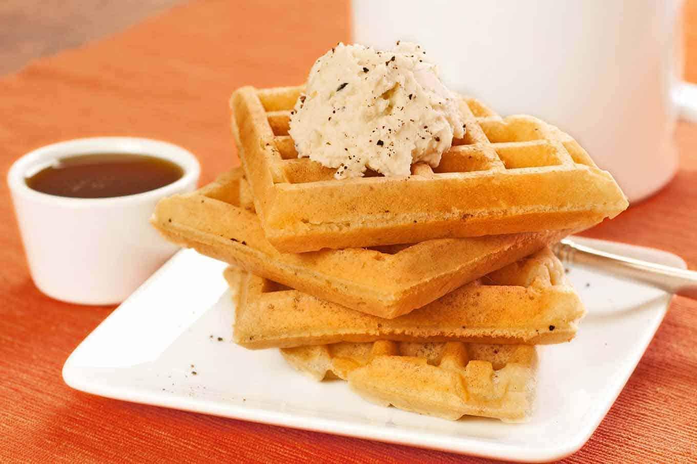 Spiced Vanilla Waffles with Mascarpone