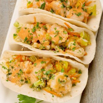 Spicy Asian Shrimp Tacos