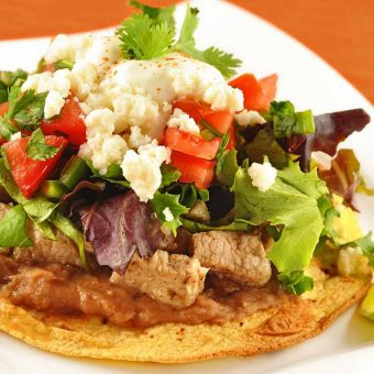 Spicy Pork Tostadas