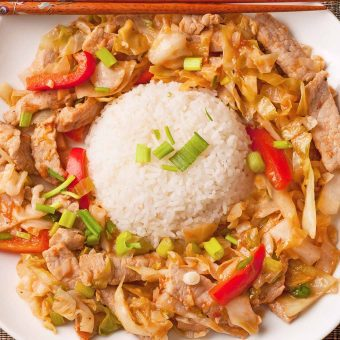 Spicy Stir-Fried Pork With Cabbage