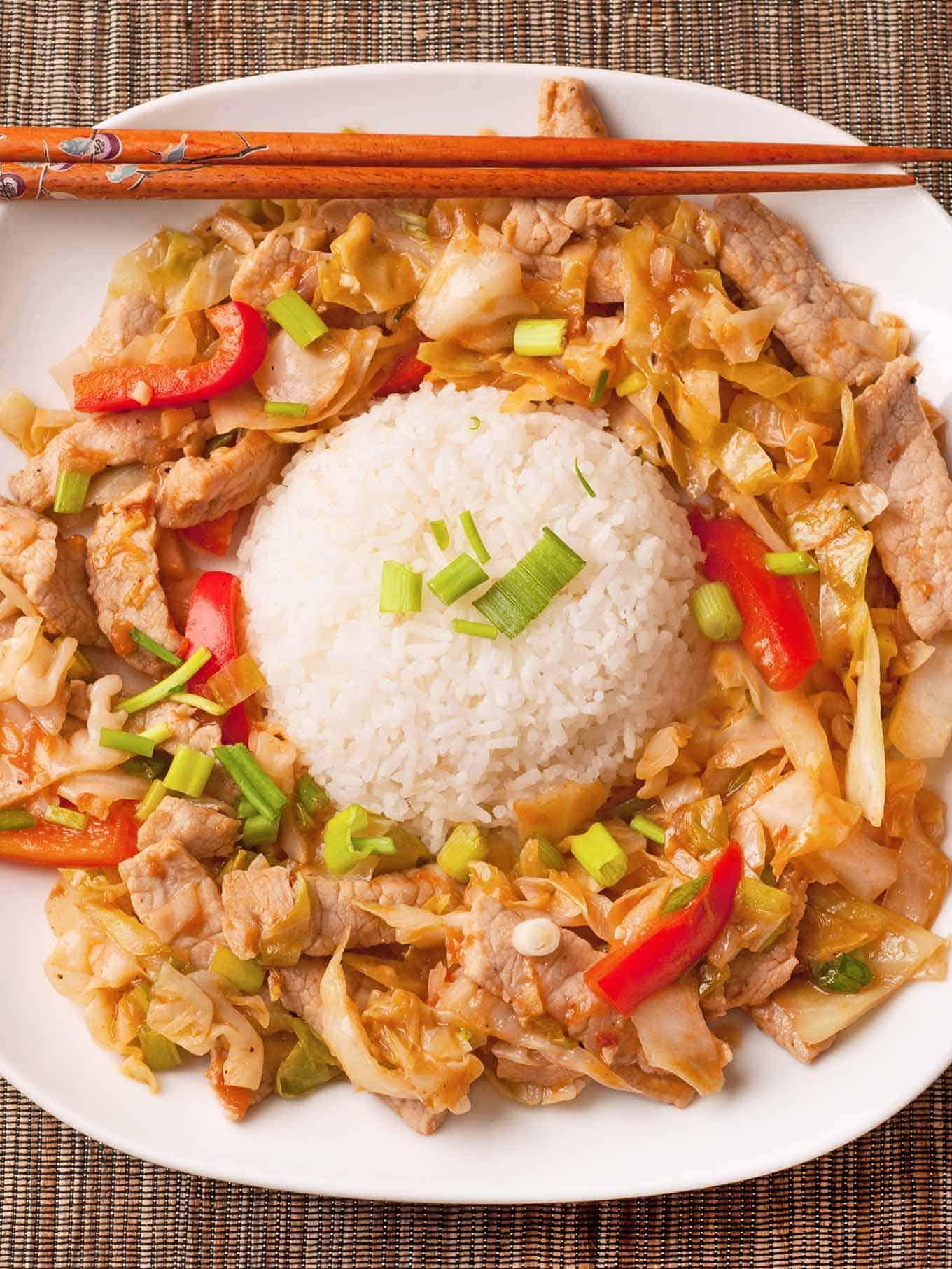 Spicy Stir-Fried Pork With Cabbage