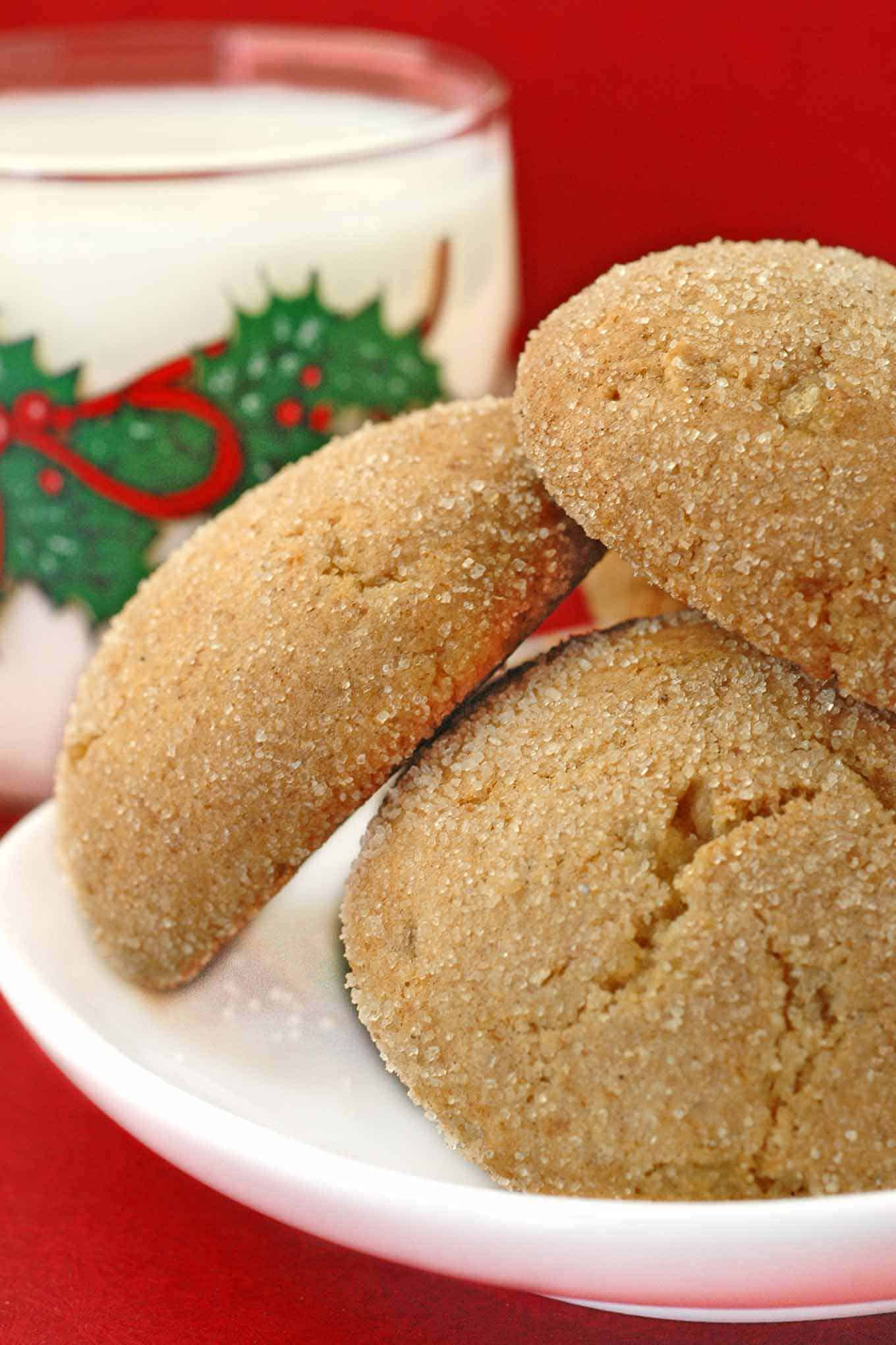 Spicy Sugar Crusted Ginger Cookies Recipe Mygourmetconnection