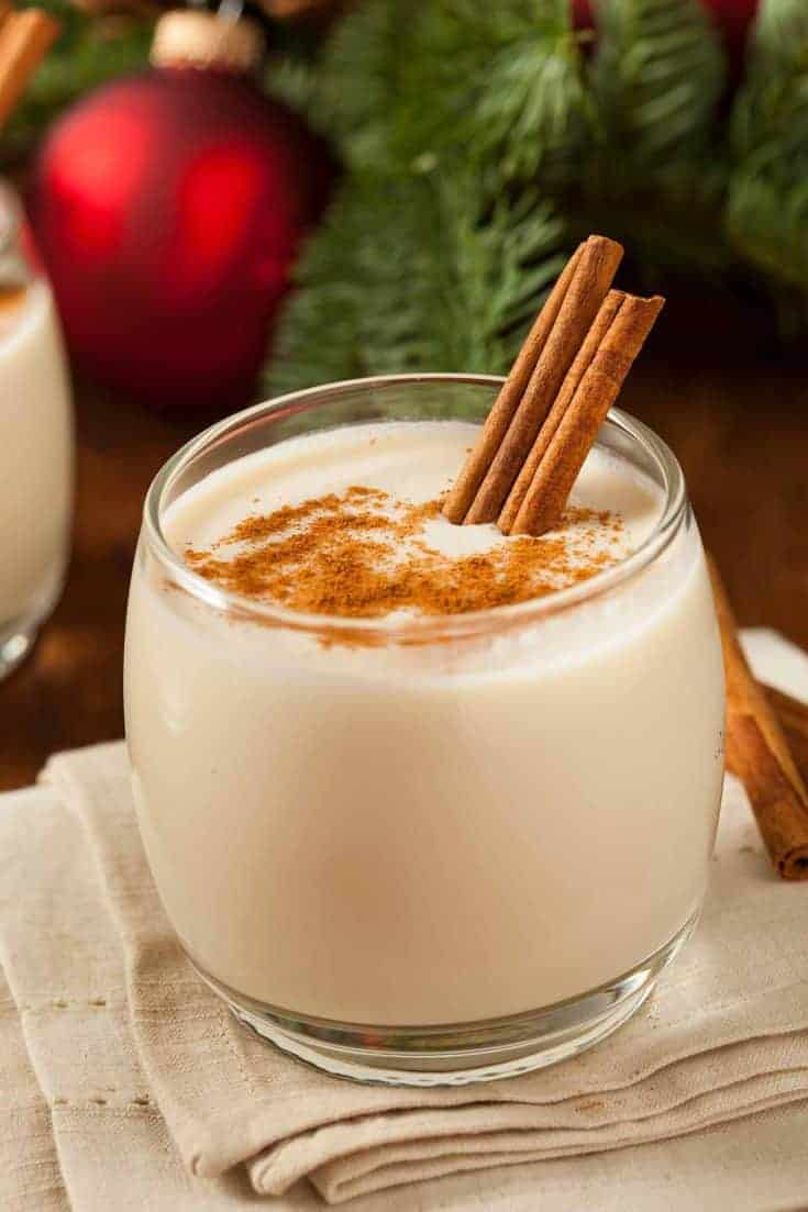 Spiked eggnog is a traditional holiday cocktail that's easy and delicious if you use the right ratio of liquor to eggnog. #eggnog #spikedeggnog