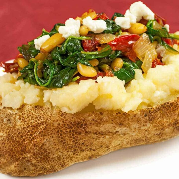 Spinach and Goat Cheese Stuffed Potatoes