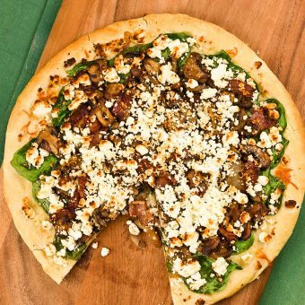 Truffled Mushroom and Goat Cheese Pizza