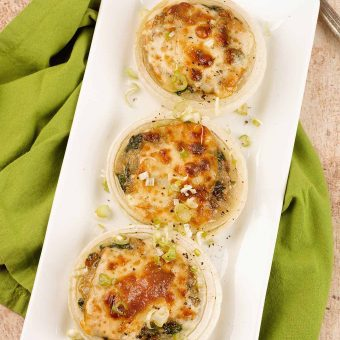 Spinach and Mushroom Stuffed Sweet Onions