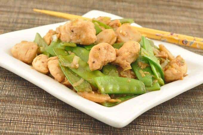Stir-Fried Chicken with Snow Peas and Ginger