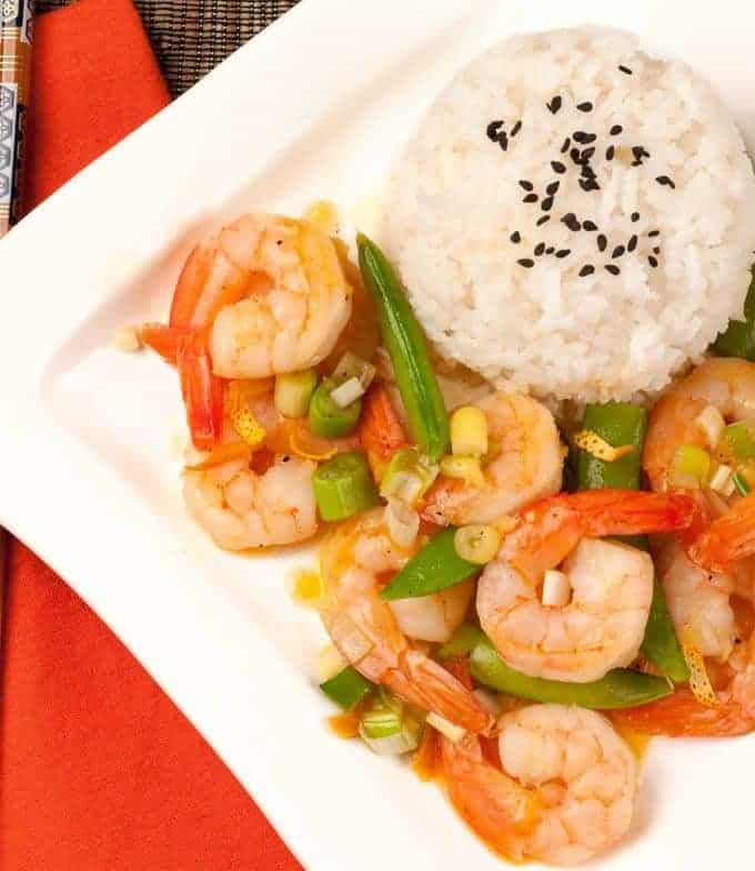 Stir-Fried Orange Peel Shrimp