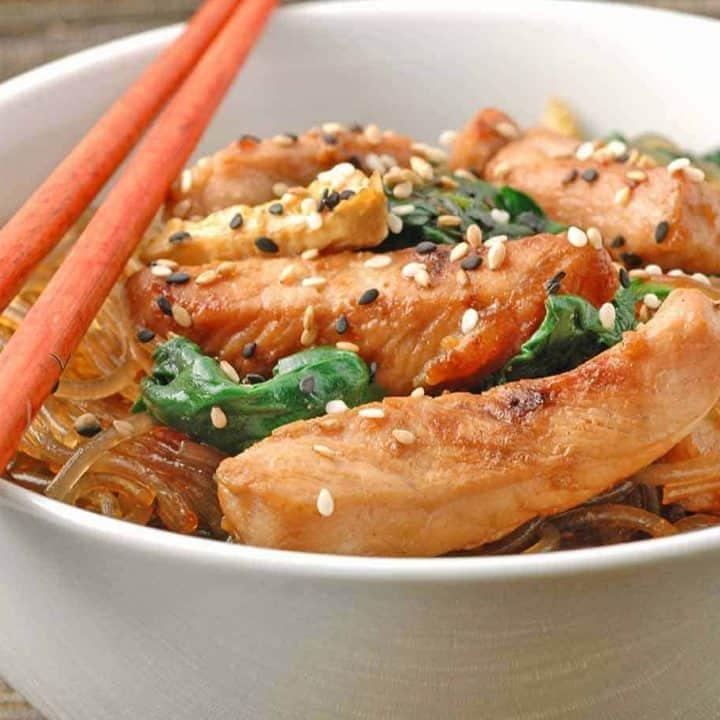 Stir Fried Pork with Clear Noodles