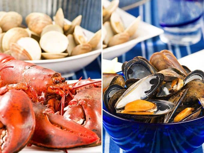 New England Clambake - Lobster, Clams, Mussels