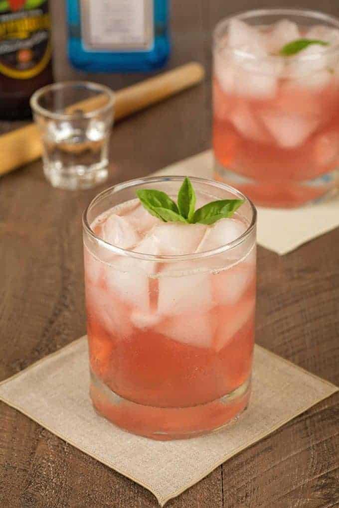 Strawberry Basil Rickey