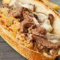 Strip Steak Sandwich with Bacon-Horseradish Spread
