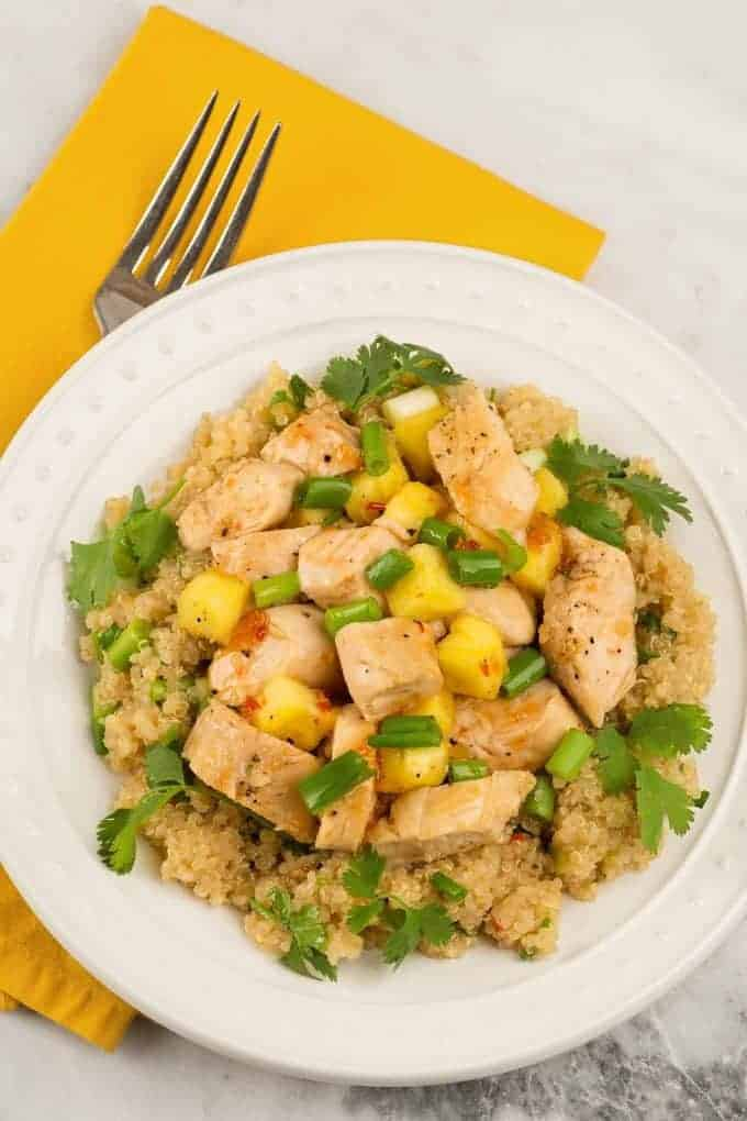 Sweet Chili Chicken and Quinoa Salad